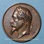 Coins Alsace. Lignes de Chemin de fer de Strasbourg à Barr et Wasselonne, de Haguenau... 1859-1864. Bronze