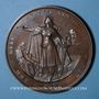 Coins Alsace-Lorraine. Guerre de 1870-1871. Médaille en cuivre. 75,55 mm. Gravée par  Charles Wiener