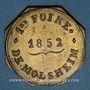 Coins Alsace. Molsheim. 1ère Foire. 1852. Jeton laiton octogonal. 28,7 mm.