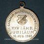 Coins Alsace. Morschwiller le Bas. Chorale Ste Caecilia - 25e anniversaire. 1903. Médaille laiton argenté