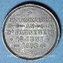 Coins Alsace. Morschwiller le Bas. Chorale Ste Caecilia. Consécration drapeau. 1893. Médaille plomb. 28 mm