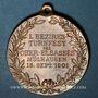 Coins Alsace. Mulhouse. 1er tournoi de gymnastique du Haut-Rhin.  1901. Médaille bronze