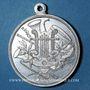 Coins Alsace. Mulhouse. 2e concours des sociétés de musique d'Alsace-Lorraine. 1907. Médaille en aluminium