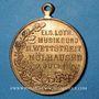 Coins Alsace. Mulhouse. 2e concours des sociétés de musique d'Alsace-Lorraine. 1907. Médaille en cuivre