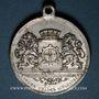Coins Alsace. Mulhouse. 4e festival des chorales d'Alsace-Lorraine. 1900. Médaille en aluminium. 29 mm
