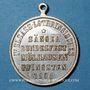 Coins Alsace. Mulhouse. 4e festival des chorales d'Alsace-Lorraine. 1900. Médaille en bronze argenté 28 mm