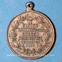 Coins Alsace. Mulhouse. 4e festival des chorales d'Alsace-Lorraine. 1900. Médaille en cuivre. 28 mm