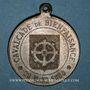 Coins Alsace. Mulhouse. Cavalcade de bienfaisance. Hiver rigoureux, 1879-1880. Médaille zinc. 32,12 mm