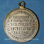Coins Alsace. Mulhouse. Cercle St Joseph. Bénédiction du drapeau. 1901. Médaille en laiton argenté. 29 mm