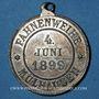 Coins Alsace. Mulhouse. Chorale Germania. Bénédiction du drapeau. 1899. Zinc nickelé