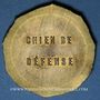 Coins Alsace. Mulhouse. Club Français du chien boxer. Epreuve en bronze non découpée
