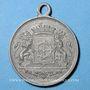 Coins Alsace. Mulhouse. Concours musical. 1885. Médaille en étain. 28 mm