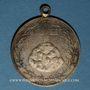 Coins Alsace. Mulhouse-Dornach. 1ère pierre de l'église catholique. 1898. Médaille laiton argenté. 33,5 mm