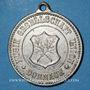 Coins Alsace. Mulhouse-Dornach. Société Union. Consécration du drapeau. 1898. Médaille zinc nickelé. 27 mm