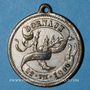Coins Alsace. Mulhouse-Dornach. Union Olympia. 1900. Médaille laiton nickelé. 27 mm