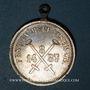 Coins Alsace. Mulhouse. Fête nautique - Cercle nautique strasbourgeois 1887. Médaille laiton argenté