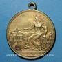 Coins Alsace. Mulhouse. Inauguration du vélodrome. 1893. Médaille en laiton jaune. 28 mm.