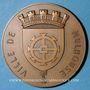 Coins Alsace. Mulhouse. Jumelage de la ville de Mulhouse avec la ville d'Anvers. 1957. Médaille br. 68 mm