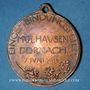 Coins Alsace. Mulhouse. Rattachement de Dornach. 1914. Médaille en cuivre. 27 mm