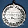 Coins Alsace. Pfastatt. Harmonie. 1900. Médaille étain nickelé. 31 mm