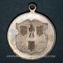 Coins Alsace. Ribeauvillé. Consécration drapeau société de gymnastique. 1899. Médaille laiton argenté