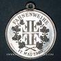 Coins Alsace. Soultz. Tournoi de gymnastique. 1903. Médaille. Aluminium. 30,4 mm