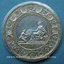 Coins Alsace. Soumission des dix Villes Impériales de l'Alsace (Décapole) 1680 Arg 44,2 mm, par  Roettiers