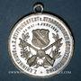Coins Alsace. Strasbourg. 10e concours de tir du Club de tir de Strasbourg. 1886. Médaille étain