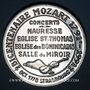 Coins Alsace. Strasbourg. Bicentenaire de la mort de Mozart. 1991. Médaille étain. 42 mm