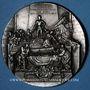 Coins Alsace. Strasbourg. Cercle Numismatique d'Alsace. 7e anniversaire. 1933. Médaille plomb argenté