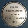 Coins Alsace. Strasbourg. Cinquantenaire du Cercle Numismatique d'Alsace. 1975. Médaille argent