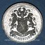 Coins Alsace. Strasbourg. Excursion de La Chorale aux trois Epis. 1876. Médaille étain. 25 mm