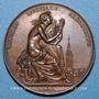 Coins Alsace. Strasbourg. Fête musicale. 1830. Médaille cuivre. 41 mm. Gravée par Kirstein