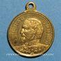 Coins Alsace. Strasbourg. Guerre de 1870 - Le général Uhrich. Médaille laiton avec  avec son œillet