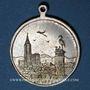 Coins Alsace. Strasbourg. Harmonie de Cronenbourg. 1900. Médaille laiton argenté. 29 mm
