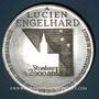 Coins Alsace. Strasbourg. Hommage de l'UNA à Lucien Engelhard. 1988. Médaille étain. 60,44 mm