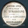 Coins Alsace. Strasbourg. Hospices civils. Médaille étain. 35 mm. Sans poinçon
