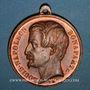 Coins Alsace. Strasbourg. Inauguration de la ligne de chemin de fer Paris-Strasbourg 1852. Médaille cuivre