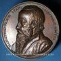 Coins Alsace. Strasbourg. Jean Sturm  (1507-1589). 1838. Médaille bronze. 50 mm. Gravée par Kirstein
