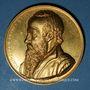 Coins Alsace. Strasbourg. Jean Sturm (1507-1589). 1838. Médaille. Cuivre doré. 50 mm. Gravée par Kirstein