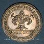 Coins Alsace. Strasbourg. Jubilé de 1781. Naissance du Dauphin. Jeton argent