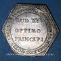 Coins Alsace. Strasbourg. Jubilé du rattachement de Strasbourg à la France 30 septembre 1781. Jeton argent