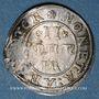 Coins Alsace. Strasbourg. Municipalité. 2 kreuzers (1623-40) contremarquée d'un lion dans un écu. Inédit!