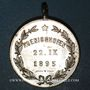 Coins Alsace. Strasbourg. Union sportive Alsatia Nova de Koenigshoffen. 1895. Médaille laiton nickelé