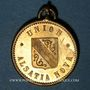 Coins Alsace. Strasbourg. Union sportive Alsatia Nova de Königshofen. 1886. Médaille laiton. 24,6 mm