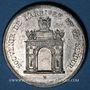 Coins Alsace. Strasbourg. Visite de Charles X. 1828. Médaille. Etain. 35 mm. Gravée par C. Müller