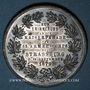Coins Alsace. Strasbourg. Visite de Guillaume I. Défilé du 15e corps d'armée. 1879. Médaille étain-plomb