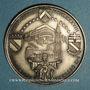 Coins Alsace. Strasbourg. Visite de Jean-Paul II, 8-11 oct. 1988. Médaille argent 42 mm. Signée Britschu