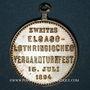 Coins Alsace. Thann. 2e tournoi de gymnastique d'Alsace-Lorraine. 1894. Médaille laiton argenté