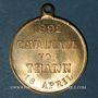 Coins Alsace. Thann. Cavalcade. 1892. Médaille bronze, avec œillet. 29,86 mm